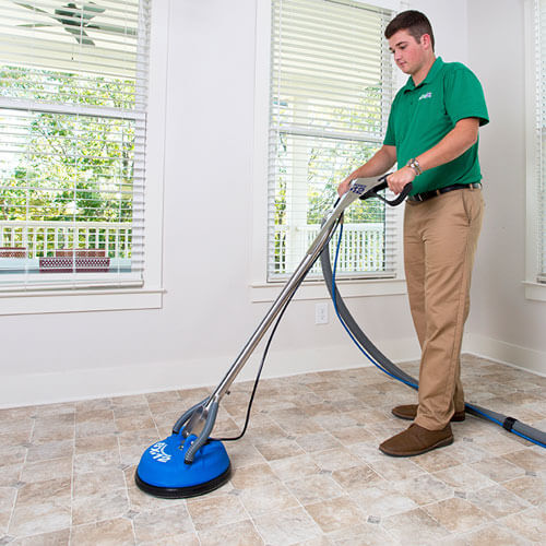 chem-dry tech performing tile cleaning in youngsville la
