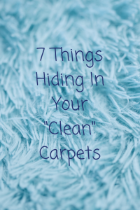 7 things hiding in your clean carpet