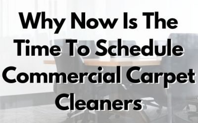 Why Now Is The Time To Schedule Commercial Carpet Cleaners