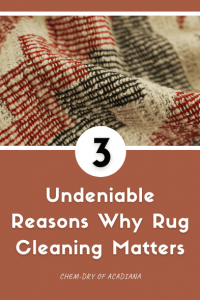 3 Undeniable Reasons Why Rug Cleaning Matters