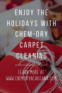 Enjoy the Holidays With Chem-Dry Carpet Cleaning