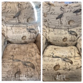 before and after upholstery cleaning lafayette la