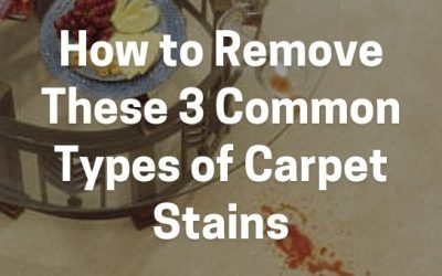How to Remove These 3 Common Types of Carpet Stains